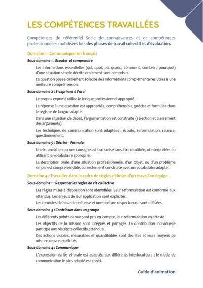 Domaines 1 et 4 - certificat CléA